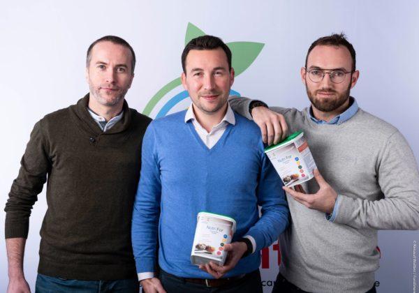 les trois co fondateurs Nutri'Earth